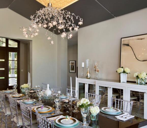Dining space LED lighting how to design layout