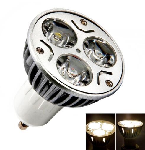 GU10 3W 3 LED Bulb Pure White