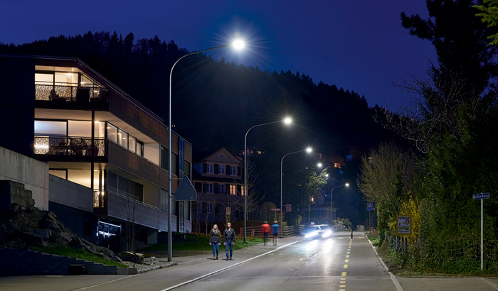 New LED road lighting system make road safer