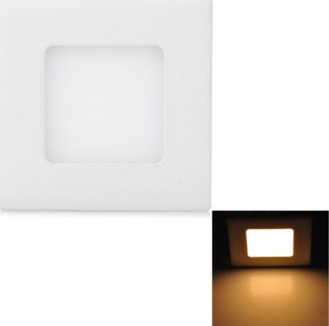 3W 265LM 3000K Warm White Square LED Ceiling Light