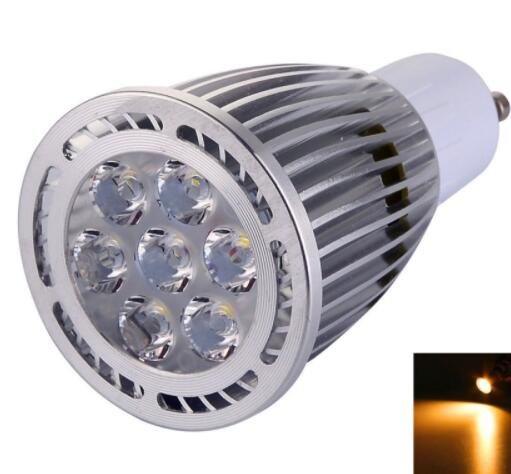 GU10 7W 2800-3200K Warm White LED Spotlight
