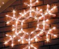 LED Folding Shimmering Snowflake Decoration 105 Cool White Twinkle Lights