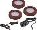 Maxim 53853BRZ LED Under Cabinet Light Disc Starter Kit from the CounterMax MX Collection