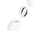 White aluminium circular flat recessed tiltable led spot lights