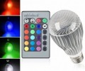 E27 9W Remote Control 16 Color Change RGB LED Bulbs