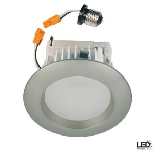 Commercial Electric 4 In Recessed Brushed Nickel Led