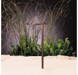 Kichler 15827 Design Pro LED Side Mount Cast Brass Low Voltage Path & Spread Light from the Landscape LED Collection