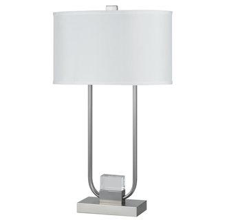 Cal Lighting BO-2321TB Tenso 2 Light Table Lamp with 3-Way Switch and LED Night Light