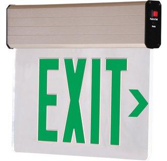 Dual-Lite CVER1GNE Green Recessed Ceiling Mount Emergency Exit Sign