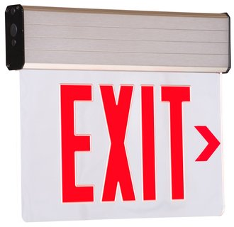 Dual-Lite CVER1RNE Red Recessed Ceiling Mount Emergency Exit Sign