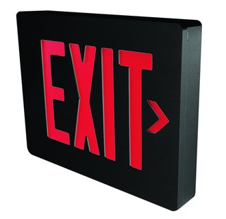 Dual-Lite SESRBNE Red LED Wall / Ceiling Mount Emergency Exit Sign - Battery Included