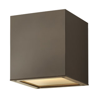 Hinkley Lighting 1763-LED Contemporary / Modern Two Light Flush Mount LED Outdoor Ceiling Fixture from the Kube Collection