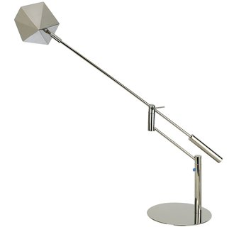 Trend Lighting TD2331 Polished Stainless Steel Table Lamp from the Slant Collection