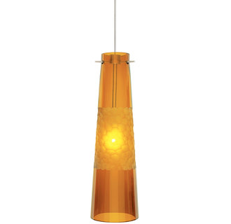 LBL Lighting Bonn Cone Shaped LED Mini Pendant for Single-Canopy Monopoint or Track Lighting Systems