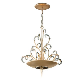Corbett Lighting 156-43 Crescendo 3 Light Crystal and Hand Crafted Iron Foyer Pendant