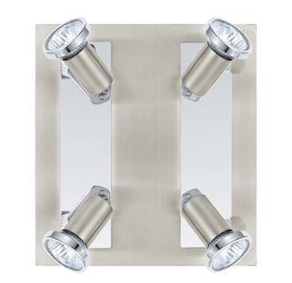 Eglo 200093A Rottelo 4x50W Track Light in Matte Nickel and Chrome Finish