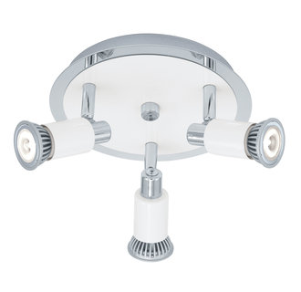 Eglo 200098A Eridan 3x50W Track Light in Chrome and Shiny White Finish