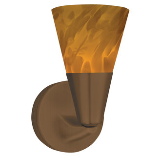 AFX Lighting LASLAM Decorative Contemporary / Modern Hand Blown Amber Glass Sconce from the Laveer Collection