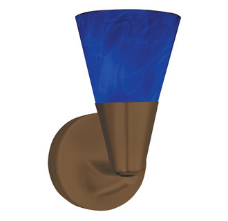 AFX Lighting LASLBU Decorative Contemporary / Modern Hand Blown Blue Glass Sconce from the Laveer Collection