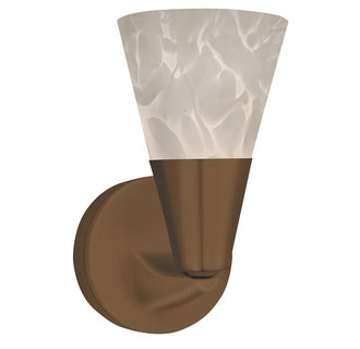 AFX Lighting LASLWH Decorative Contemporary / Modern Hand Blown White Glass Sconce from the Laveer Collection