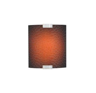 LBL Lighting Omni Cover Small Brown Smoke LED 277V 1 Light Wall Sconce