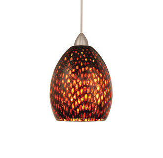 WAC Lighting MP-LED515-AM LED Monopoint Fiore Pendant with Amber Glass - Canopy Included