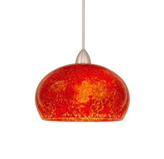 WAC Lighting MP-LED593-RD Komal Monopoint LED Pendant with Red Glass - Canopy Included