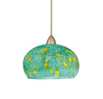 WAC Lighting MP-LED593-TQ Komal Monopoint LED Pendant with Turquoise Glass - Canopy Included