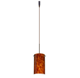 Besa Lighting RXL-4404-BR Single Light LED Pendant with Bronze Metal Finish from the Stilo 7 Collection