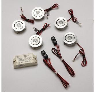 Alico Lighting WLE138C32K-0-5 Contemporary / Modern 5 Light Adjustable 5 LED Light Kit