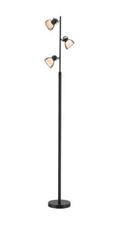 61 in. Black LED Floor Lamp