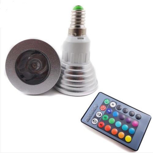 E14 3W High power RGB led spotlight downlights
