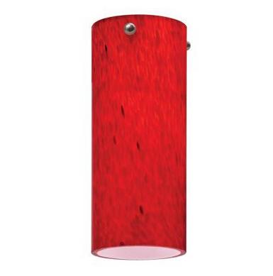 1-Light Apple Red LED Mini Pendant