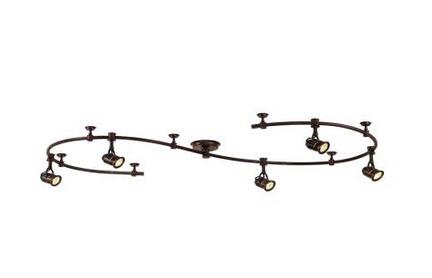 5-Light 10 ft. Track Lighting Kit