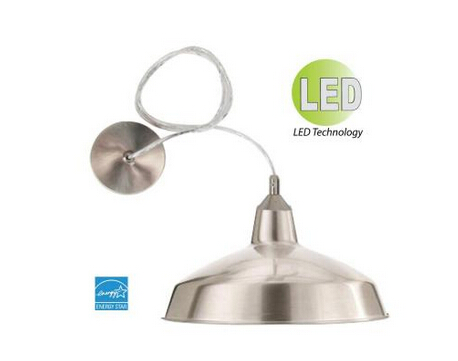 LED Round Utility Shop-Light Pendant with Removable