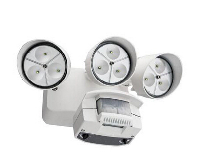 Wall-Mount Outdoor White LED Flood Light with Motion Sensor