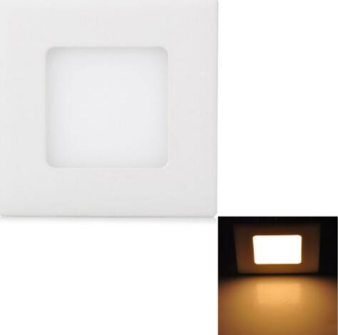 3W 265LM 3000K Warm White Square LED Ceiling Light