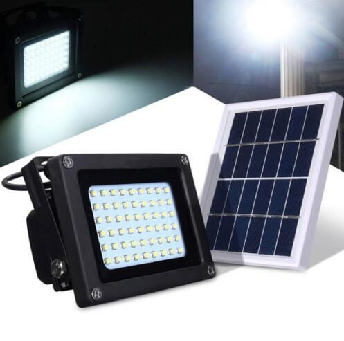 Solar Powered Waterproof 54 LED Floodlight