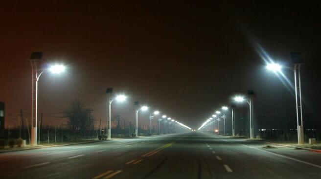 Composition of solar LED street lights