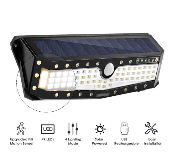 Waterproof 79 LED Solar Light Outdoor Garden Light