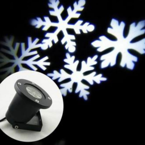 Snowflake Landscape Projector LED Holiday Xmas Lamp