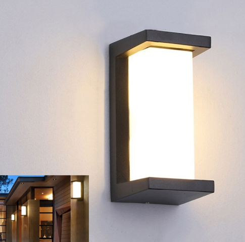 Aluminum Radar Motion Sensor Modern LED Porch Wall Light