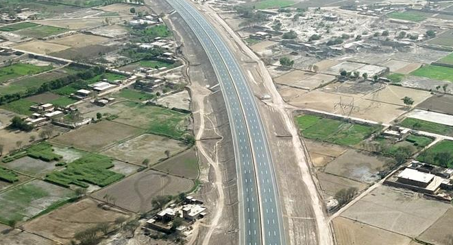 The lighting project of the PKM highway project in Pakistan was completed