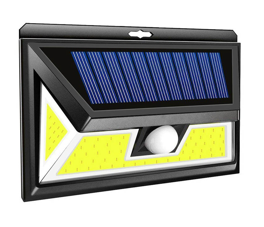 Cob 76 LED Source Waterproof Solar Motion Sensor LED Wall light