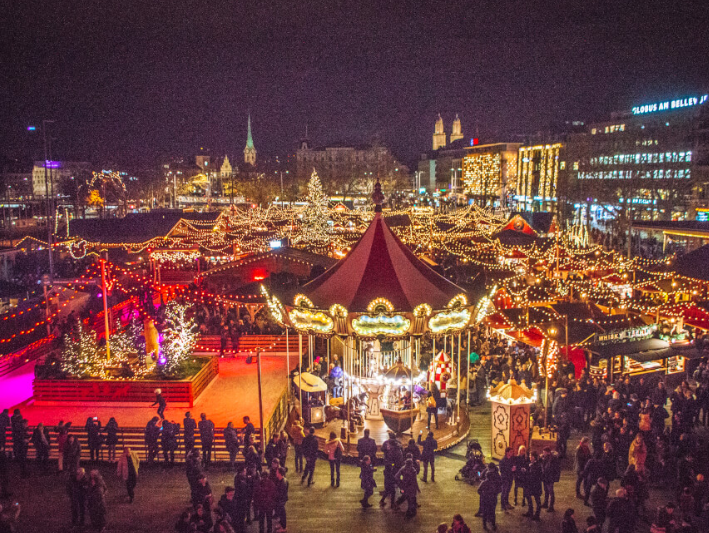 Zurich lights up again for Christmas