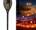 Outdoor Garden Lawn Landscape Solar 96 LED Flickering Flame Light