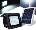 Solar Powered Waterproof 54 LED Floodlight