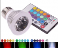 RGB Magic 3W E27 16 Color LED Spot Light Bulb