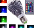 16 Colors Changing 9W E27 RGB LED Light Bulb