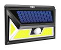 Cob 76 LED Source Waterproof Solar Motion Sensor LED Wall light